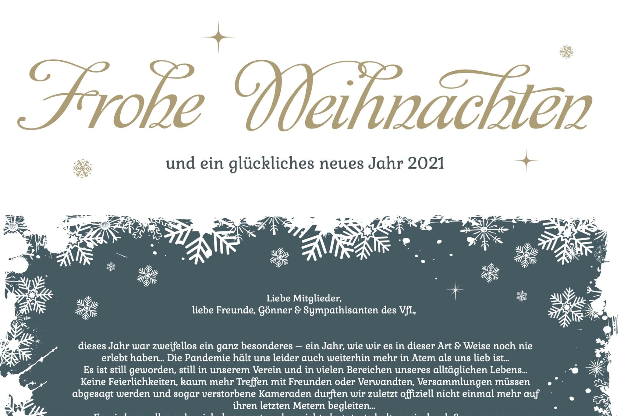 Der VfL wünscht frohe Weihnachten